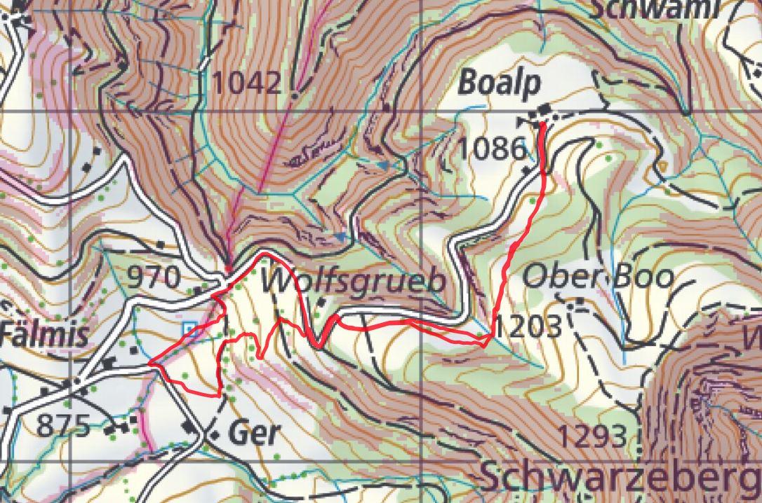 Strecke (Quelle map.geo.admin) | RENAIOLO - z'Berg gah isch ... on